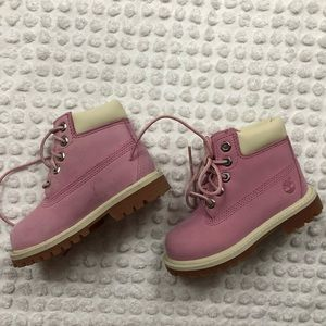 Adorable Pink Timberland Boots
